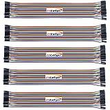 HiLetgo 5*40PCS デュポンコネクター ワイヤー ジャンパー ケーブル メス-メス 1P-1P 2.54mm 長さ20CM(5個セット) [並行輸入品]