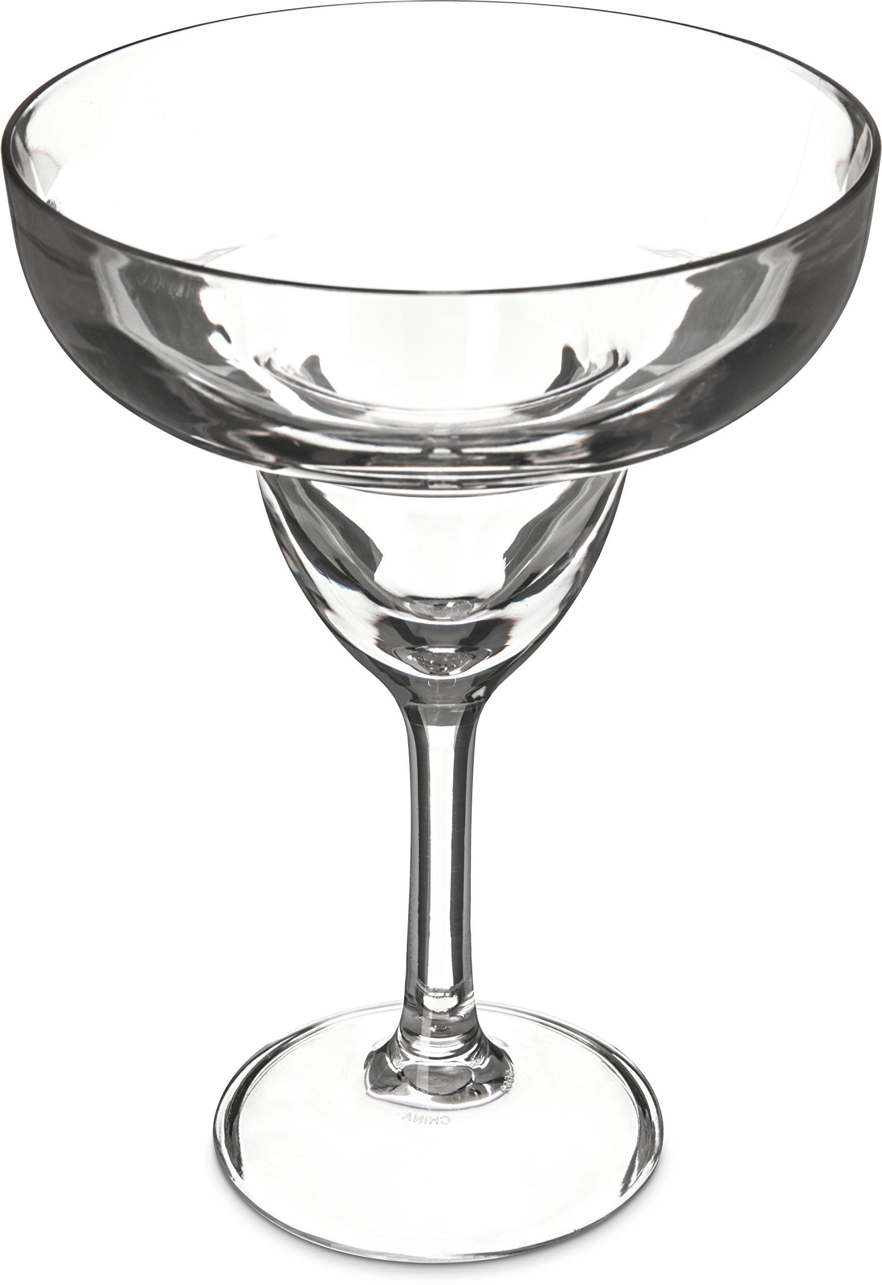 Carlisle 565207 Shatter-Resistant Plastic Margarita Glass, 16 oz, Clear (Pack of 24)