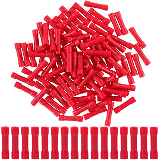50Pcs 22-18AWG 16-14AWG Heat Shrink Butt Crimp Terminal Connector Wire J1H2 K3M7