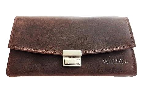 Cartera de cuero, billetera de camarero, taxistas (marrón Vintage Look) con luz