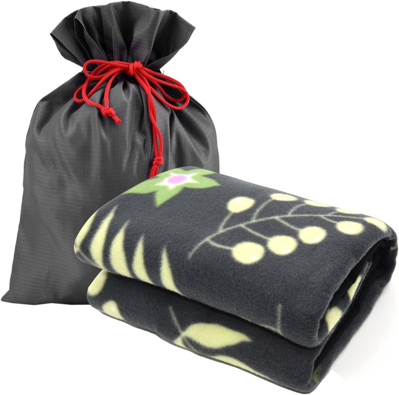 Forestfish Fleece Throw Blanket Cozy Soft Portable Travel Blanket