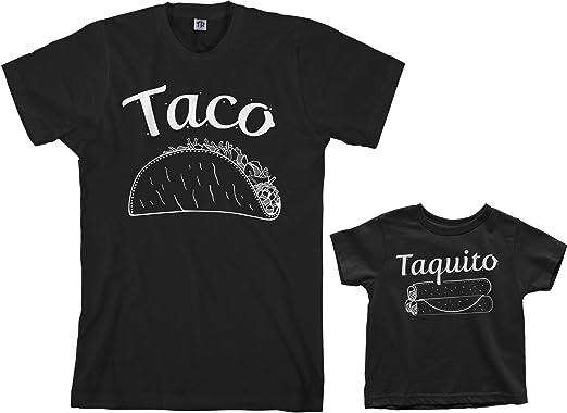 5f09ca583 Threadrock Taco & Taquito Toddler & Men's T-Shirt Matching Set (Toddler: 2T