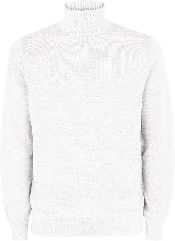 Mens Roll Neck Thermal Underwear Baselayer T Shirt Top Winter Warm Colour:White Size:Medium