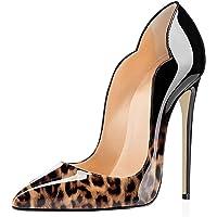 EDEFS Scarpe col Tacco Donna Classico Ritaglio High Heels Chiuse Davanti Scarpa