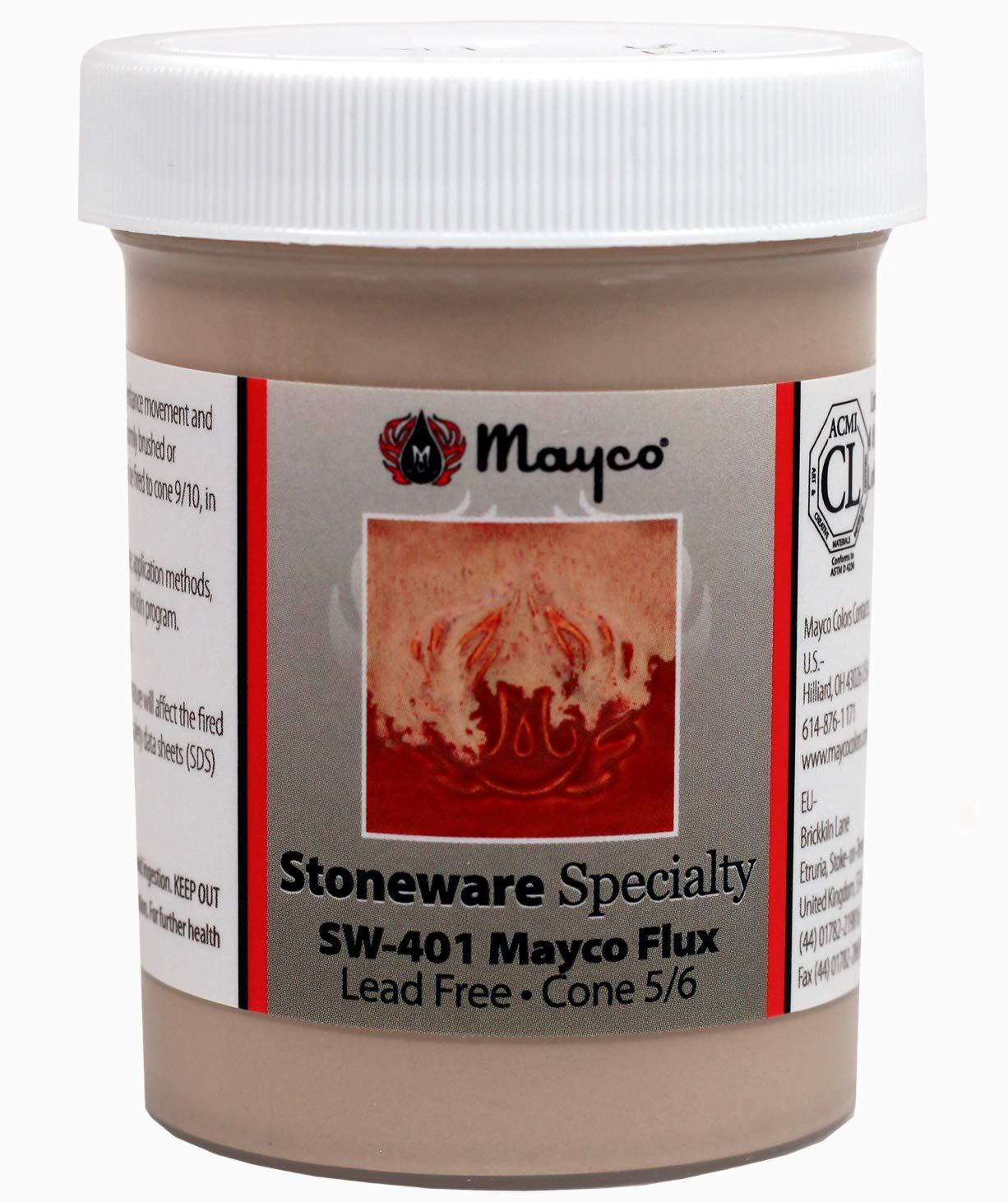 Hi Fire Specialty Glaze SW-401 Mayco Flux Cone 5//6 Kiln Fire 4 Ounce Jar