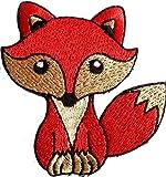 """Écusson Brodé appliqué coudre renard enfant fille bebe couronne patch badge thermocollant """" renard 7.8 x 7 cm """""""