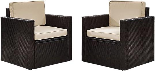 Crosley Furniture KO70005BR-SA Palm Harbor Outdoor Wicker Arm Chair