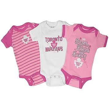 reputable site 5986b 634b6 Toronto Maple Leafs Baby Girl 3-pc Lizzy Creeper Set - Size ...