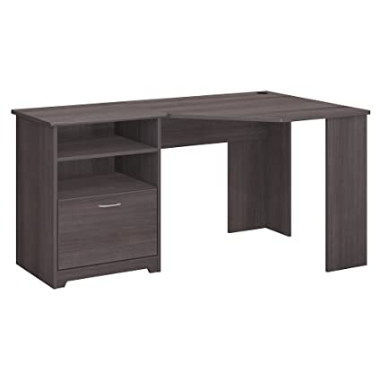 Bush Furniture Cabot Corner Desk In Heather Gray