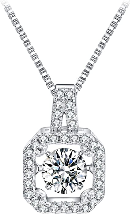 Best Quality Free Gift Box Sterling Silver Cz Fancy Pendant