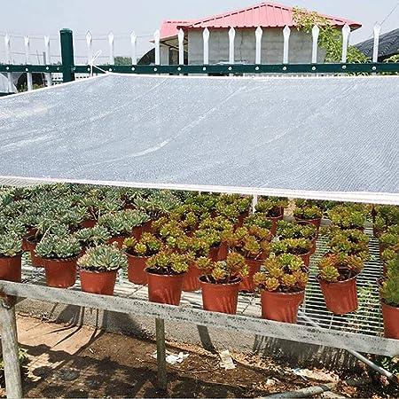 Cubierta de la Planta Papel de Aluminio Protector Solar Sombra Red de Tela, Flor de Jardín Invernadero Granero o Casetas del Techo del Automóvil de la Perrera, Papel de Aluminio Duradero: Amazon.es: