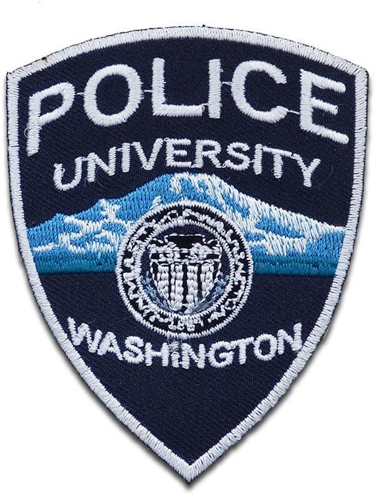 Parches - Police University policía Logo - azul - 7x8.7cm - termoadhesivos bordados aplique para ropa: Amazon.es: Hogar