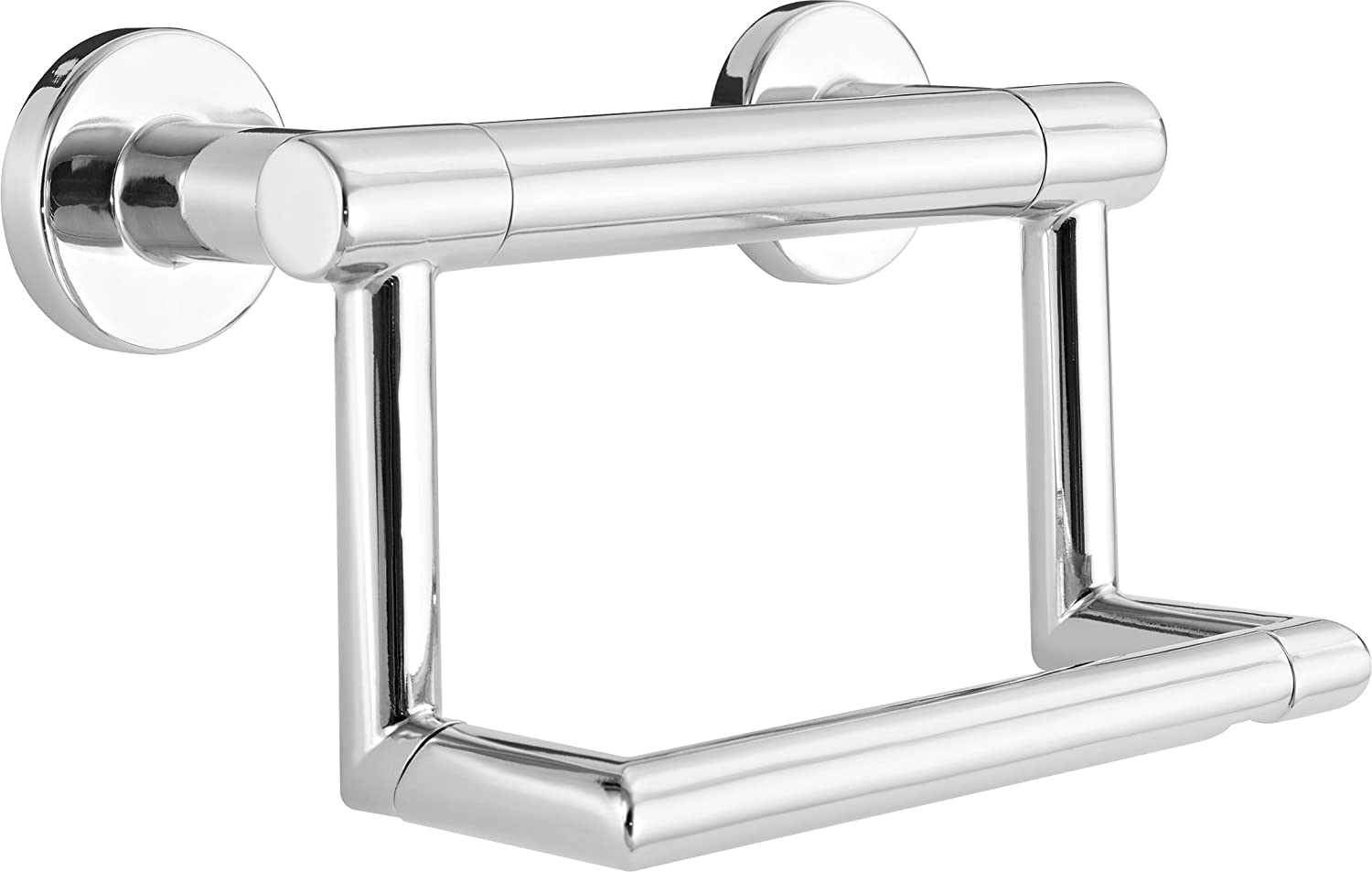 Delta Faucet 41550 Contemporary Pivoting Tissue Holder / Assist Bar, Polished Chrome