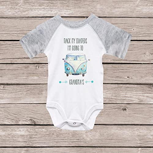 e198dfec2 Image Unavailable. Image not available for. Color: Grandma Onesie Granny  Nana Grandma's Girl Boy Shirt