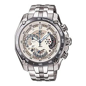 Casio Edifice Men S White Dial Stainless Steel Chronograph Watch