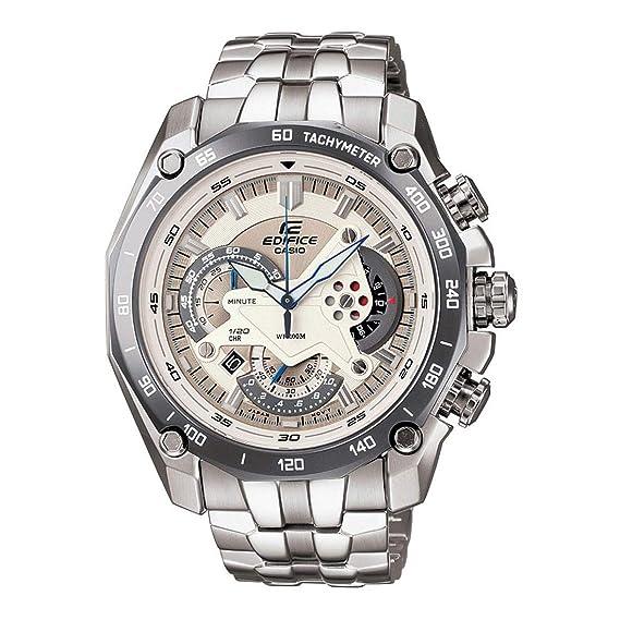 Casio ef-550d-7avdf (ed391) ed391 (ed391) - Reloj de Pulsera de Hombre, Correa de Acero Inoxidable Color Plata: Casio: Amazon.es: Relojes