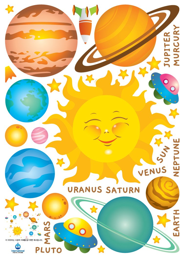 Amazon.com: The Planets of Our Solar System Removable WALL ART DECOR ...
