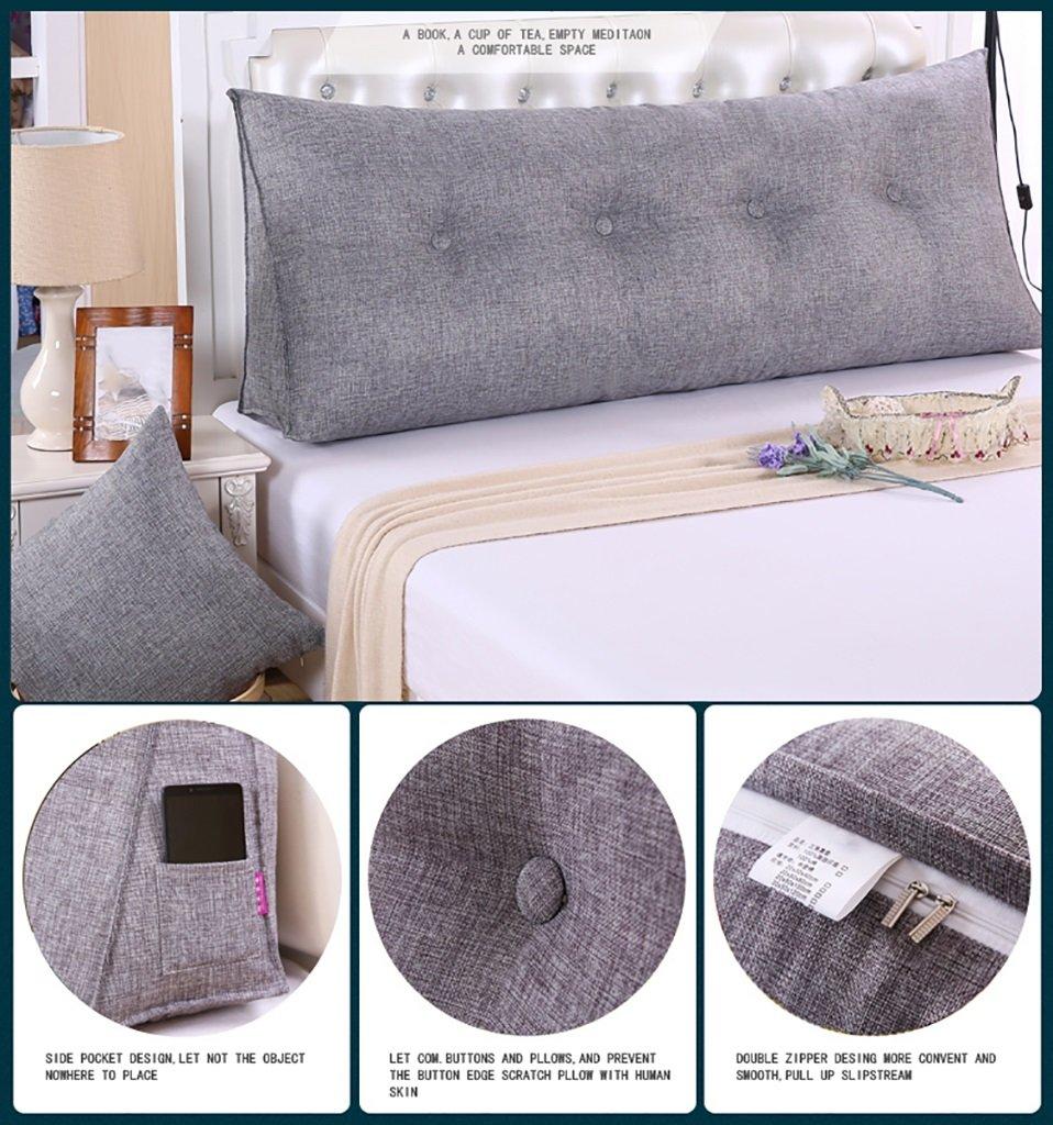 Color : Purple , Tama/ño : 60*50*20cm SESO UK Sof/á Cama Gran llenado Triangular Wedge Cushion dormitorio respaldo de la cama Almohada almohada de lectura Oficina almohada lumbar con cubierta extra/íble