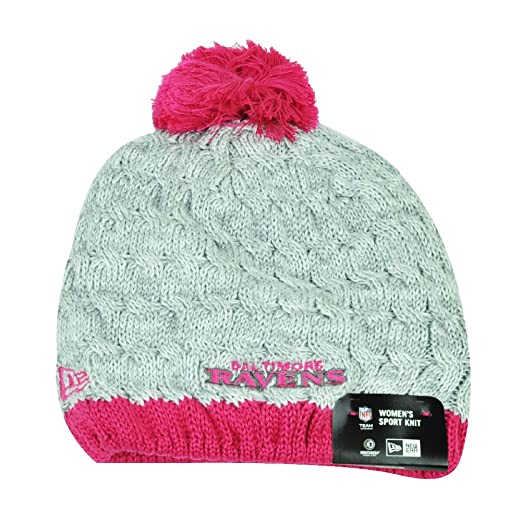 NFL New Era Breast Cancer Awareness Knit Beanie Baltimore Ravens Pink  Womens Hat  Amazon.co.uk  Sports   Outdoors 981382c72