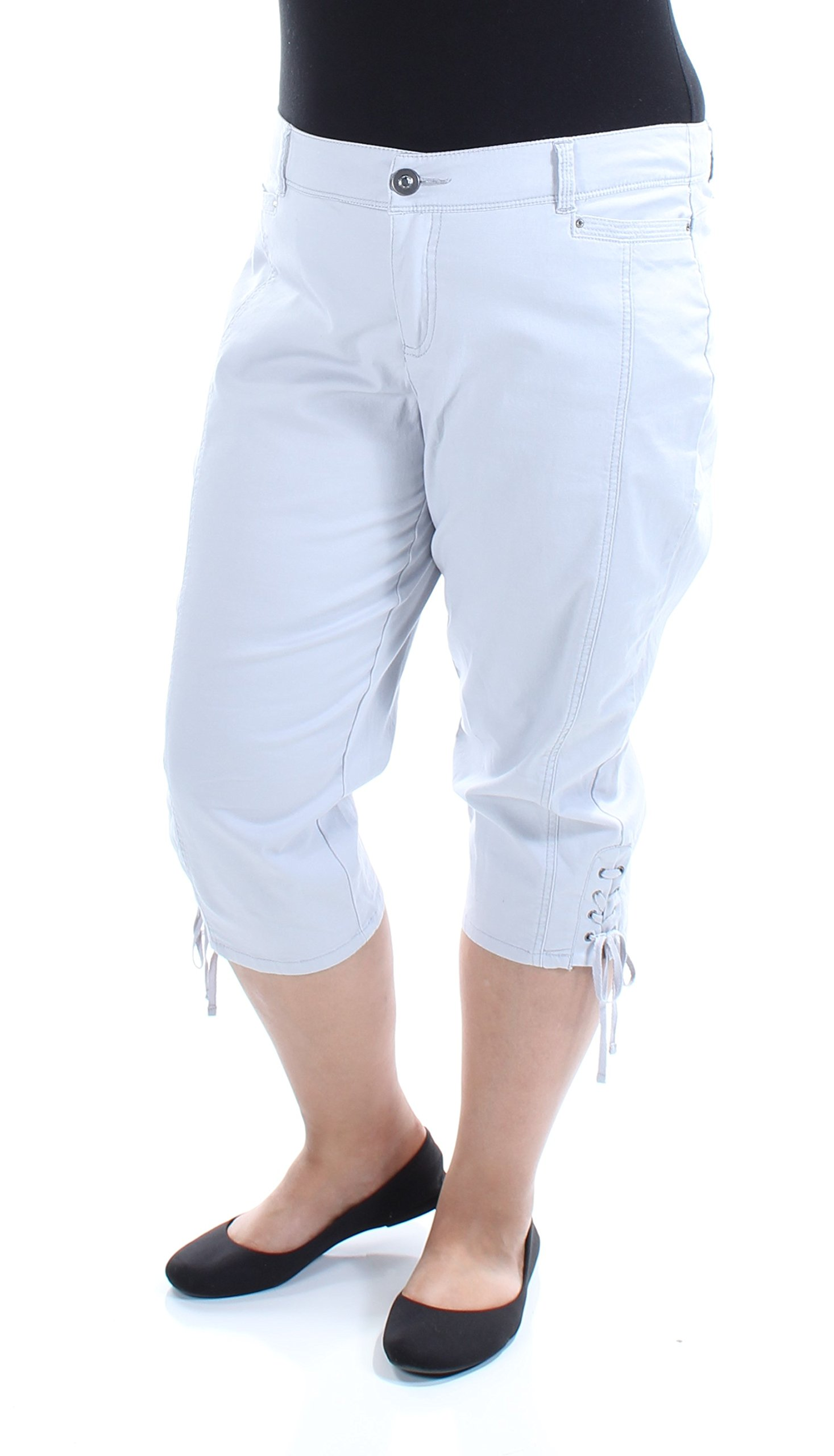 Style & Company $90 Womens New 1121 Gray Tie Casual Pants Petites 16 B+B