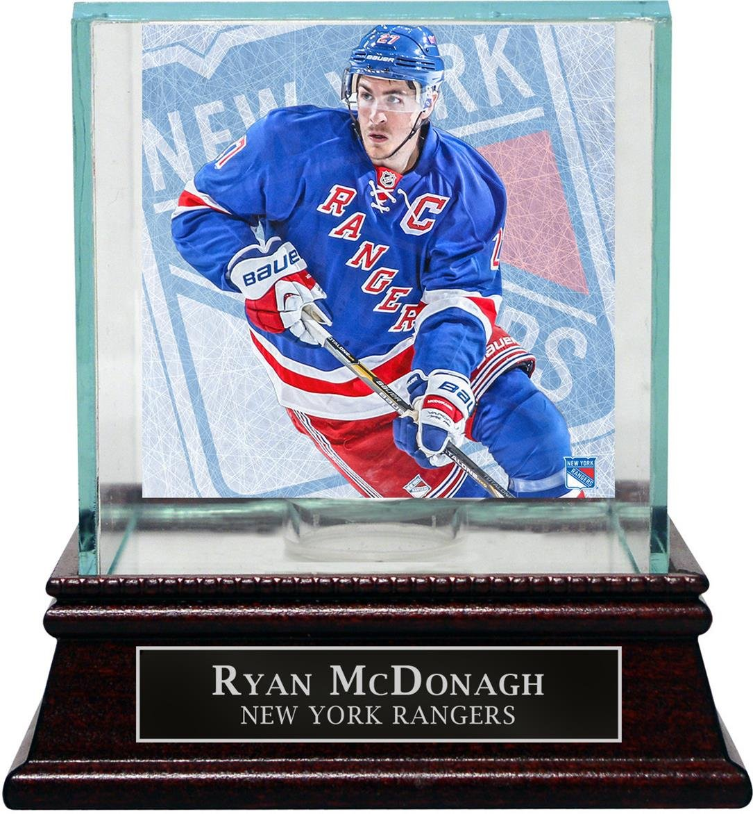 Steiner Sports NHL New York Rangers Ryan McDonagh Puck Glass Display Case