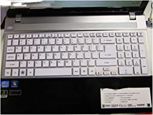 17.3 15.6 Inch Soft Silicone Keyboard Cover Protector Skin Compatible for Acer Aspire ES1 512 V5 561PG V5 561G V5 561P VN7 791G ES1 711,White