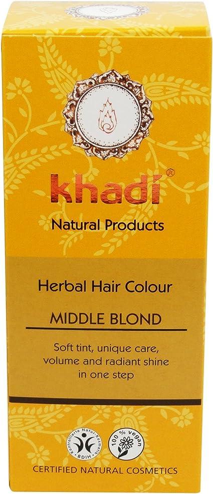 KHADI Tinte Vegetal Rubio Medio - Color y brillo duraderos ...