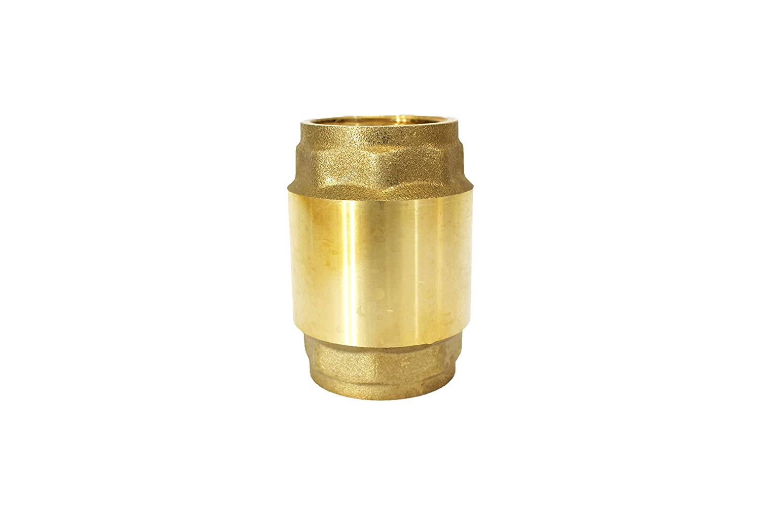 FNPT,200 WOG,Lead Free,Backflow Preventer,for Tankless Water Heater,Pressure Pumps,Boilers,and HVAC Systems 3//4 inch CMI Inc 3//4 Inch Brass Spring Check Valve,3//4 in X 3//4 in