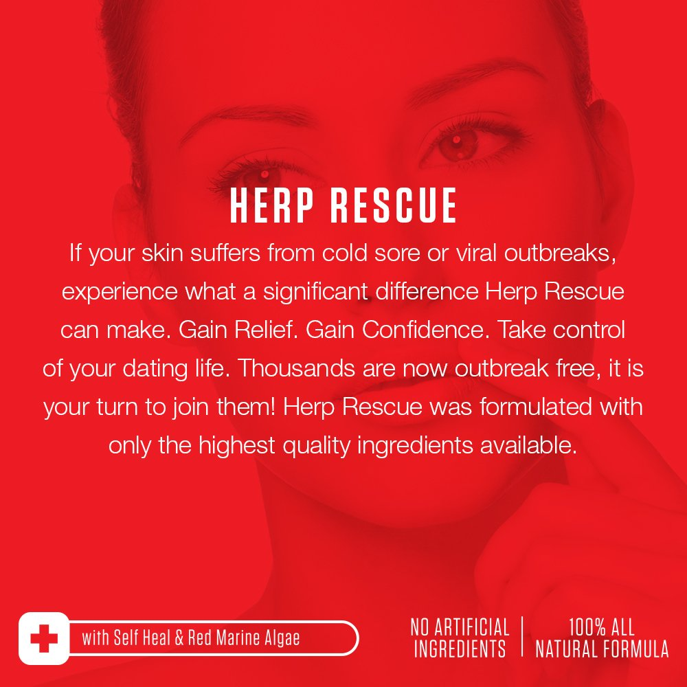 HERP RESCUE #1 Best formula to clear skin FAST of Herpes
