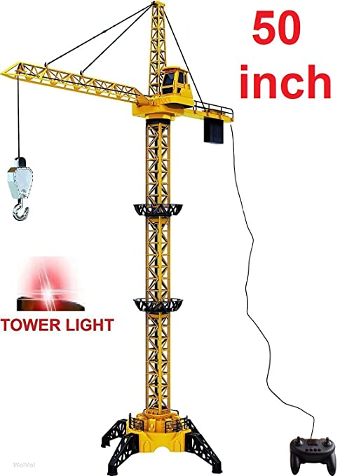 Amazoncom Wolvol 50 Inch Tall Wired Remote Control Crawler Crane