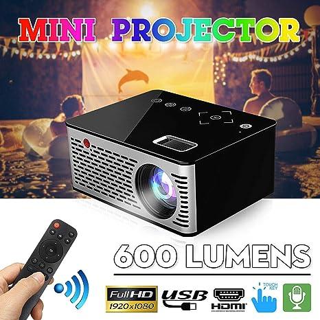 El más Nuevo!) T200 HD Micro Proyector Home Movie Player ...