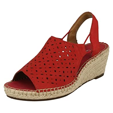 Clarks Petrina Gail Rouge - Chaussures Sandale Femme