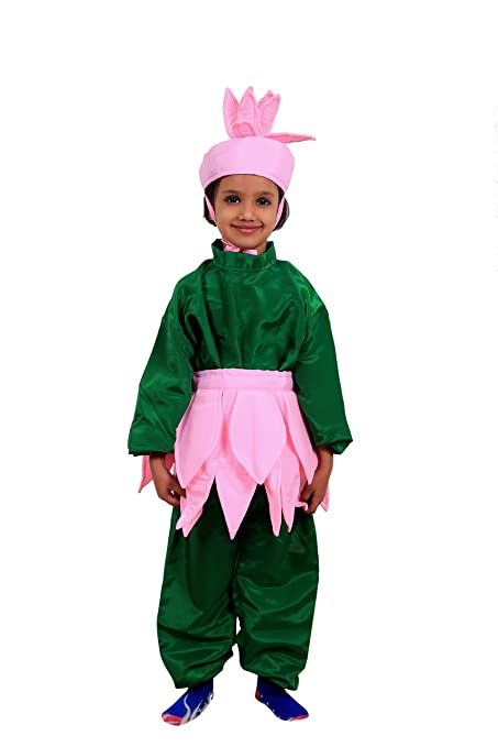 Buy Fancy Steps Lotus Flower Age 4 To 6 Years Fancy Dress Costume