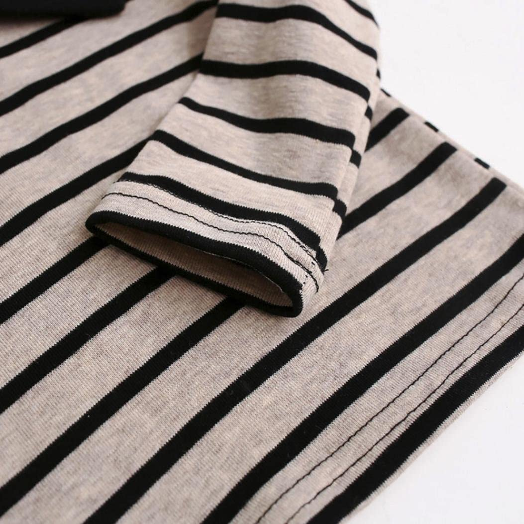 Vinjeely Toddler Baby Girls Soft Long Sleeve Striped Lapel Bowknot Tops Shirt Fall Winter Clothes