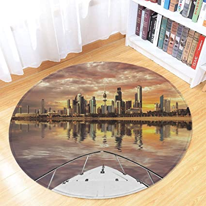 Amazon com : Travel Decor Printing Round Mat, Kuwait City