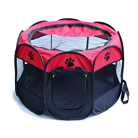 Small Puppy Pet Playpen Portable Dog Cat Pet Play Pen Pet Cage Tent Kennel  Crate Indoor