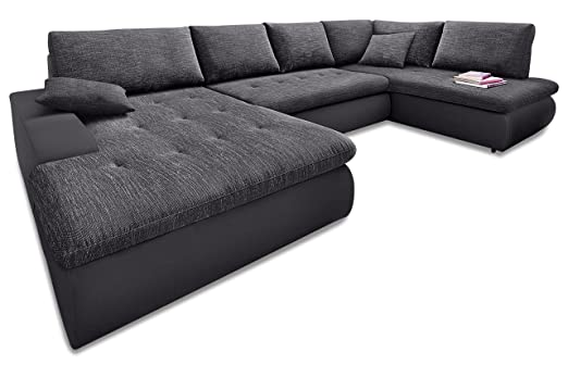 Sofa Couch Wohnlandschaft Indie Xl Anthrazit Amazon De Kuche