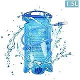 TRIWONDER 1.5-2-3L depósito de Agua de vejiga de hidratación Libre de BPA para Montar en Bicicleta Senderismo Mochila de Camping