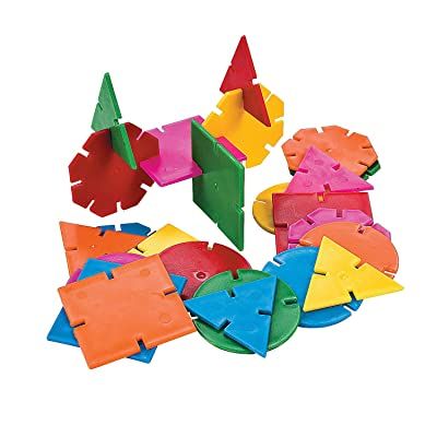 Fun Express Geometric Connecting Shapes - 400 Pieces - Educational and Learning Activities for Kids: Toys & Games