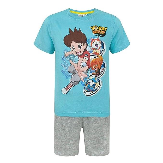 Yo-Kai Watch - Pijama con los Personajes para niños (3 Años/Azul