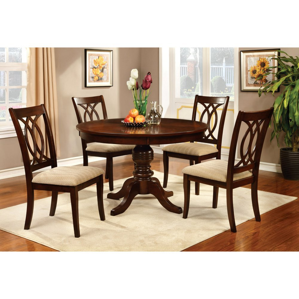 . amazoncom  furniture of america frescina round dining table  tables