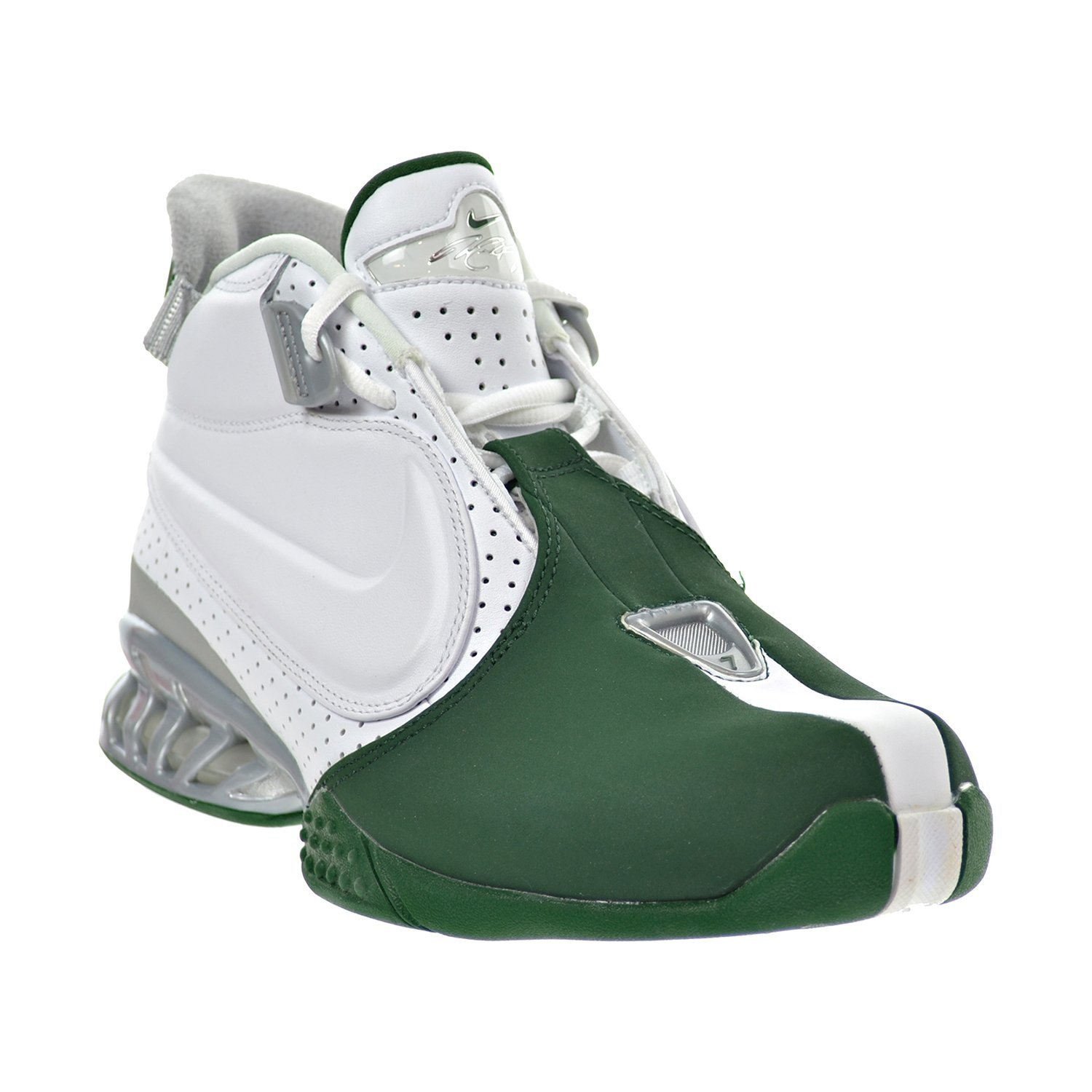 Amazon.com | Nike Air Zoom Vick II Men's Shoes White/Gorge Green/Metallic  Silver 599446-100 (8 D(M) US) | Fashion Sneakers