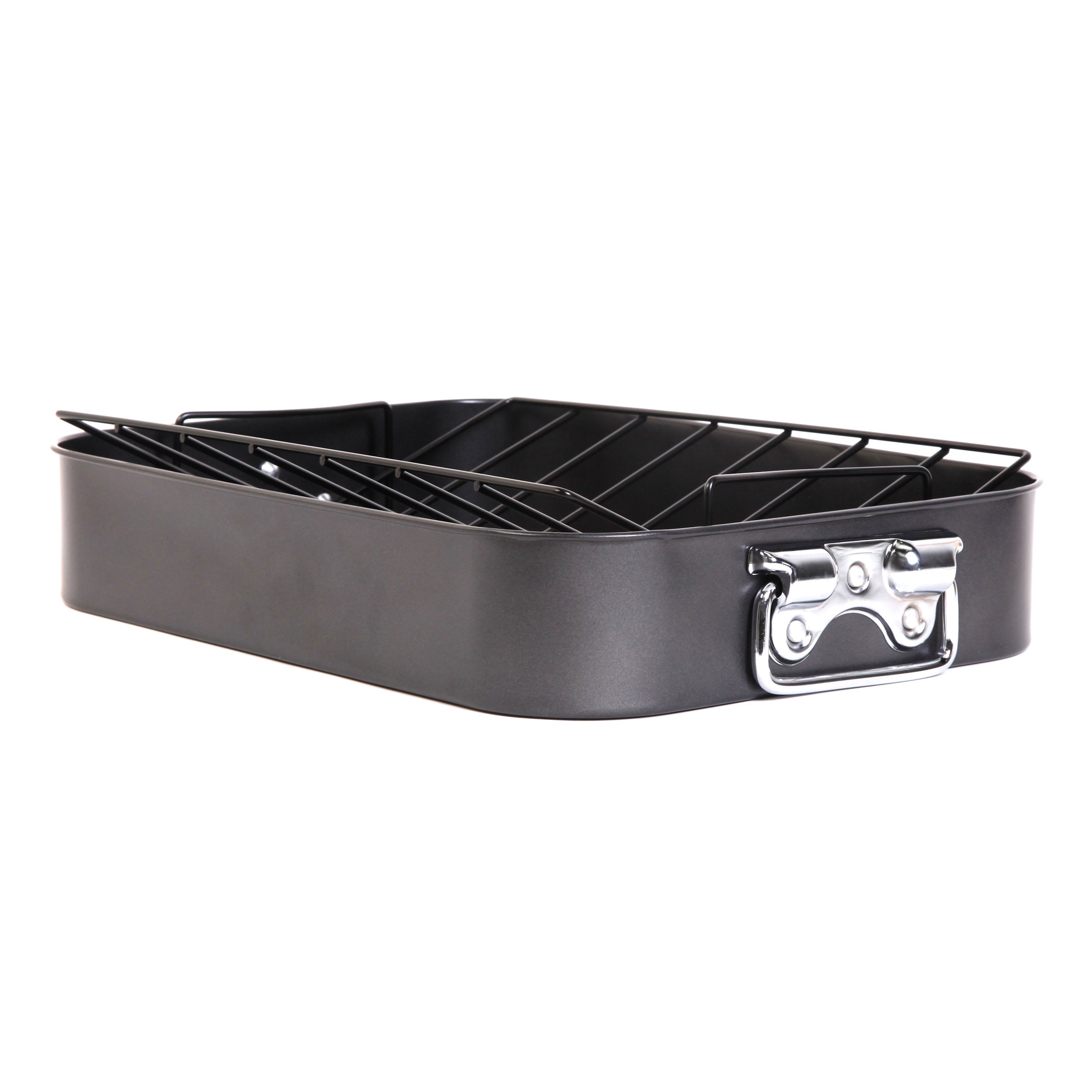 Gibson Home 63665.02 Top Roast Non-Stick Roaster with Rack, Black
