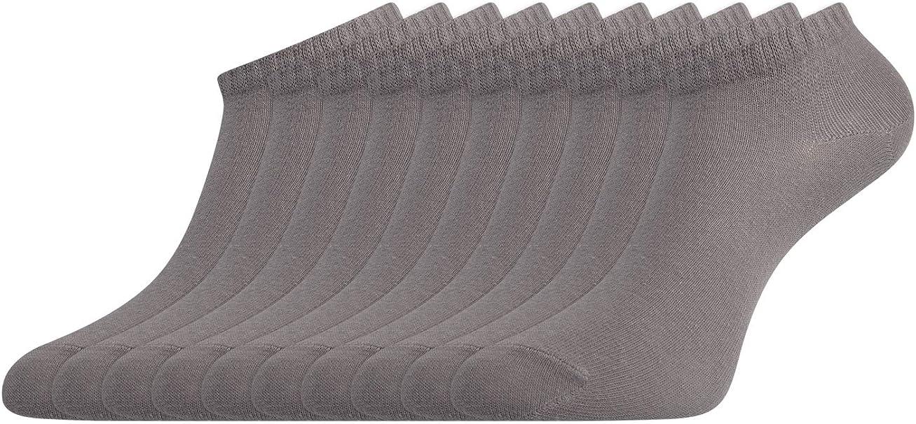 oodji Ultra Mujer Calcetines Tobilleros (Pack de 10), Gris, ES 35 ...