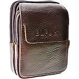 Francinel [L8426] - Pochette ceinture cuir 'Lafayette' noir (12x9x3 cm) 92dJFp