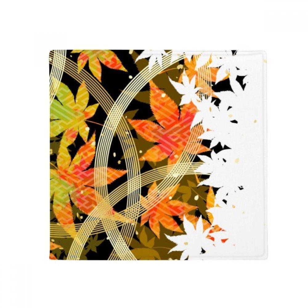 DIYthinker Maple Leaf Geometry Flowers Pattern Anti-Slip Floor Pet Mat Square Home Kitchen Door 80Cm Gift