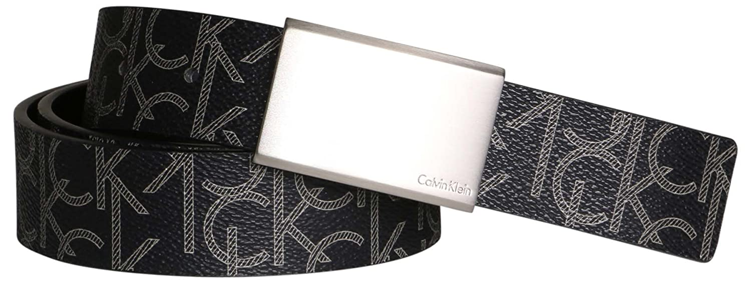 Calvin Klein Men s Reversible CK Logo Synthetic Leather Belt Black 7511296  BLK (38, Black)  Amazon.in  Clothing   Accessories 382cce984ff