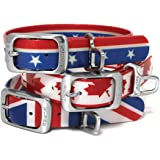 Kurgo Muck Collar Waterproof Dog Collar - Blue, Red, Orange, Grey, Multi Color, Patriotic, Union Jack and Maple Leaf