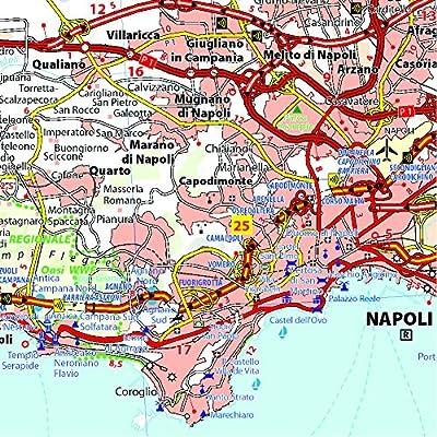 Mapa Local Campania, Basilicata Mapas Local Michelin: Amazon.es ...