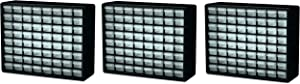 Akro-Mils 10164 64 Drawer Plastic Parts Storage Hardware and Craft Cabinet, 20-Inch by 16-Inch by 6-1/2-Inch, Black (Pack of 3)